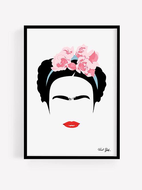 פרידה קאלו - איור מינימליסטי | Minimalist Frida Fahlo illustration