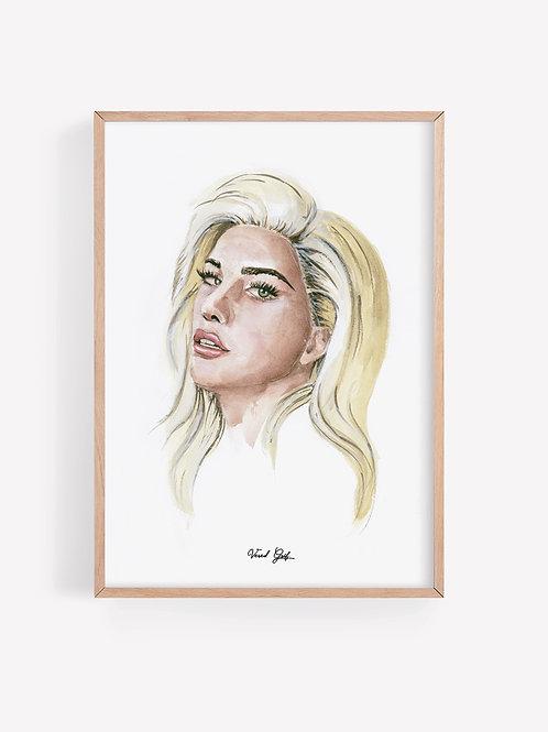 ליידי גאגא - ציור בצבעי מים | Lady Gaga - Watercolor painting