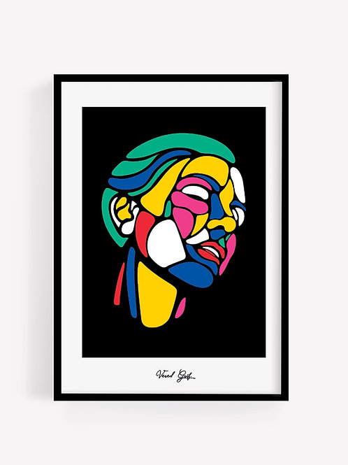 פנים צבעוניות  |  Colorful face