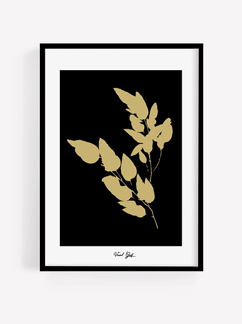 Gold leaves B