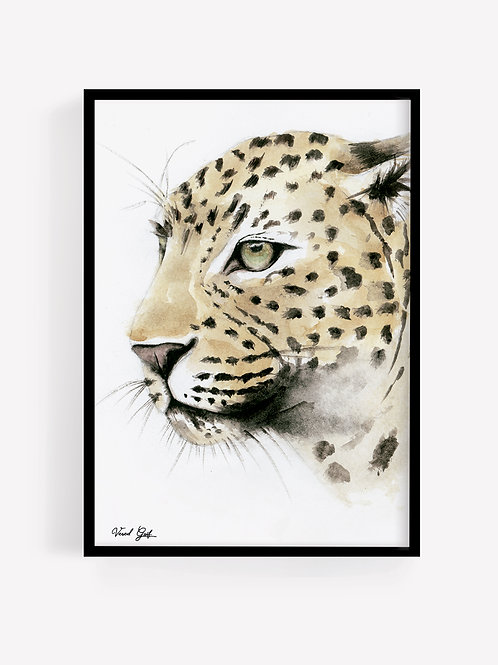 Leopard - watercolor painting