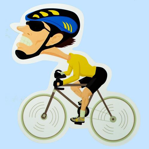 Cyklista karikatura