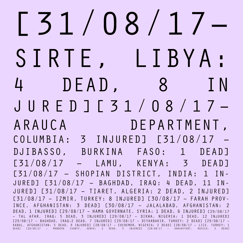 28/08/17 - 31/08/17: Libya