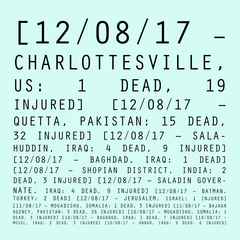 12/08/17 - 10/08/17: Charlottesville