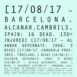 17/08/17 - 15/08/17: Barcelona