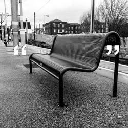 Train station bench