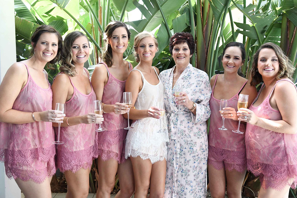 Bridesmaids with Mother of the Bride