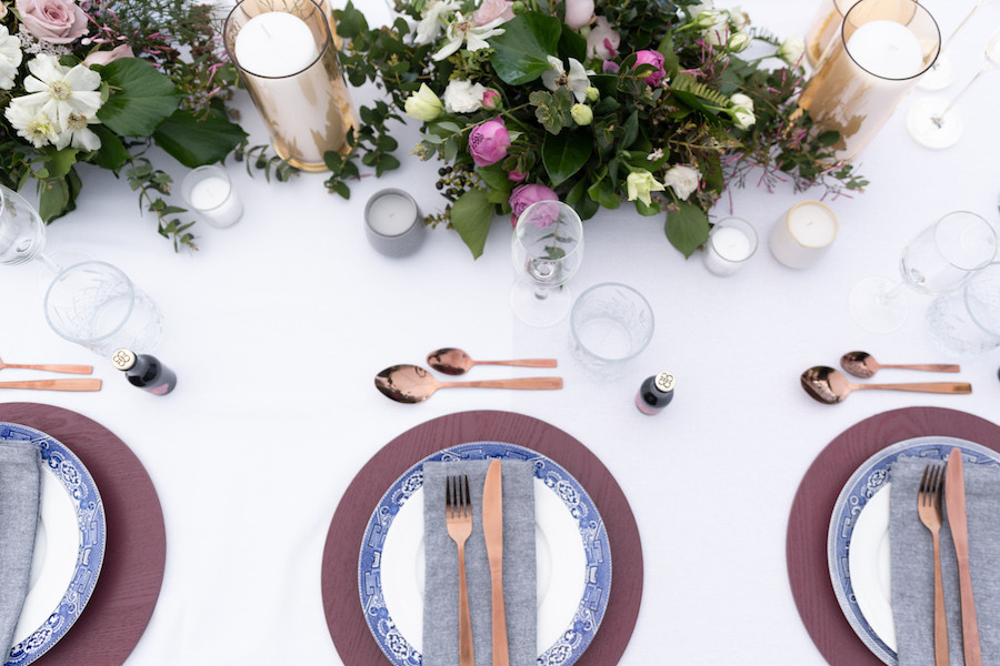 Wedding tablescape style
