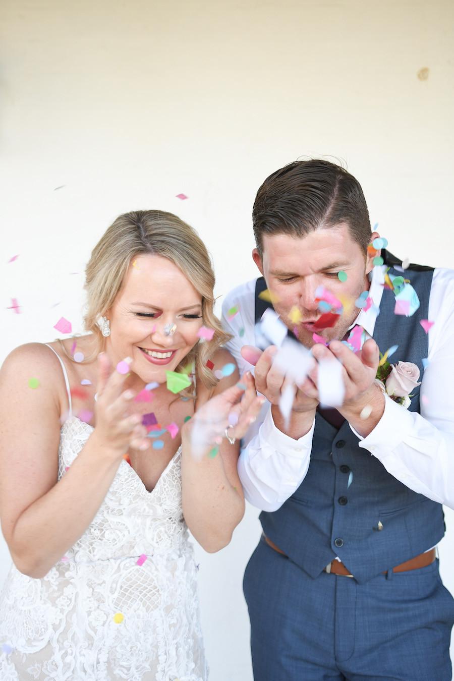 Wedding confetti photo