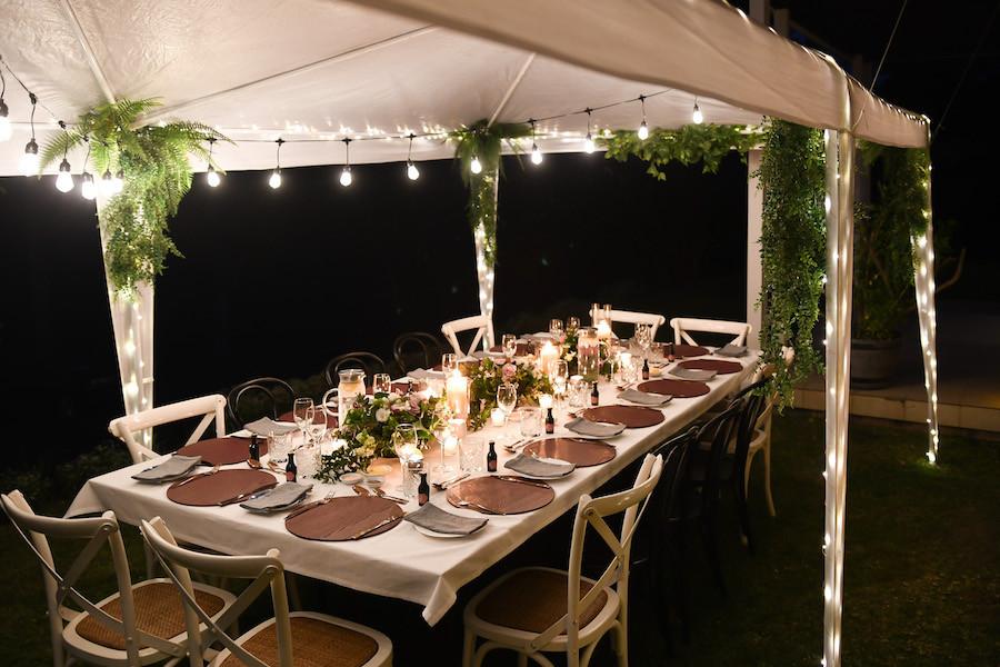 Hamptons Hinterland Retreat Wedding Reception