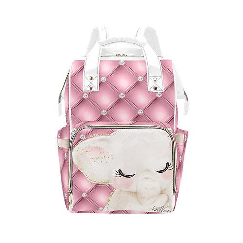 Pink Elephant Diaper Bag