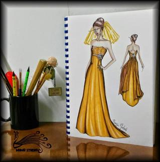 """""""Su Misura"""": l'abito da sposa color oro"""