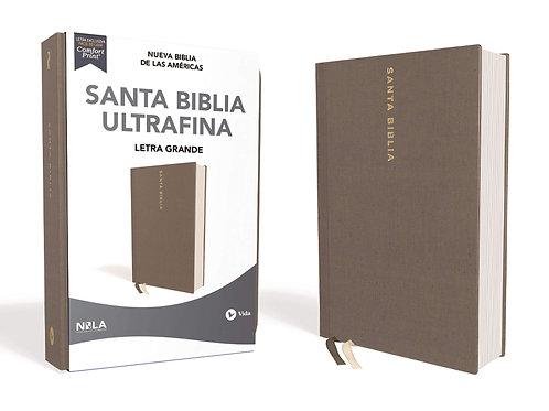 Biblia NBLA pasta dura Gris Letra grande