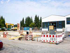 Baubeginn Neubau Werkshalle