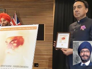 Guru Nanak's stamp released in Parliament commemorating his 550th birthday