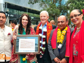 BAPU@150: First ever NZ postage stamp on Gandhi launched at the Auckland Diwali Festival