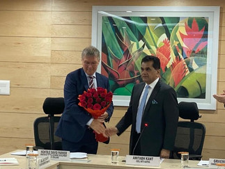 David Parker meets with Niti Ayog CEO Amitabh Kant in New Delhi
