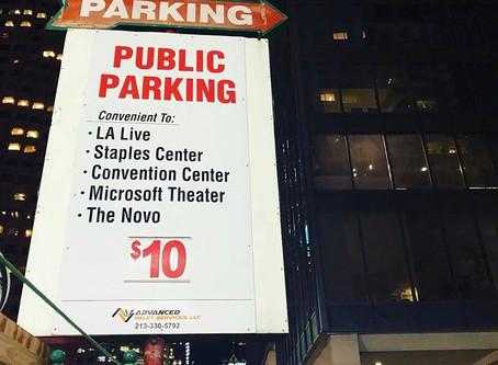 Now offering public parking for LA live/Staples Center