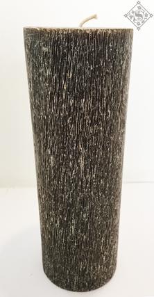 Vela Gris Cepillada 7.5x20cm Aroma Manza