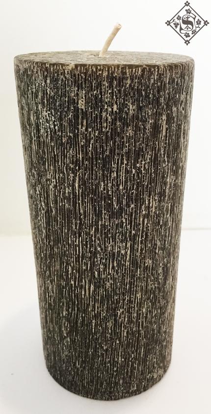 Vela Gris Cepillada 7.5x15cm Aroma Manza