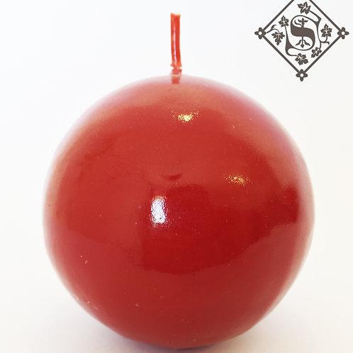 Veladora Esfera Roja