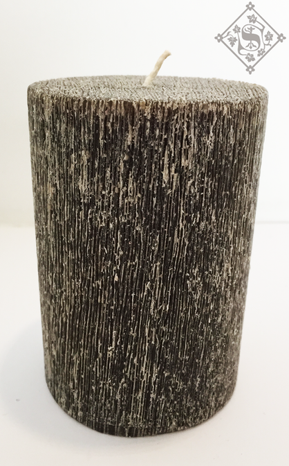Vela Gris Cepillada 7.5x10cm Aroma Manza