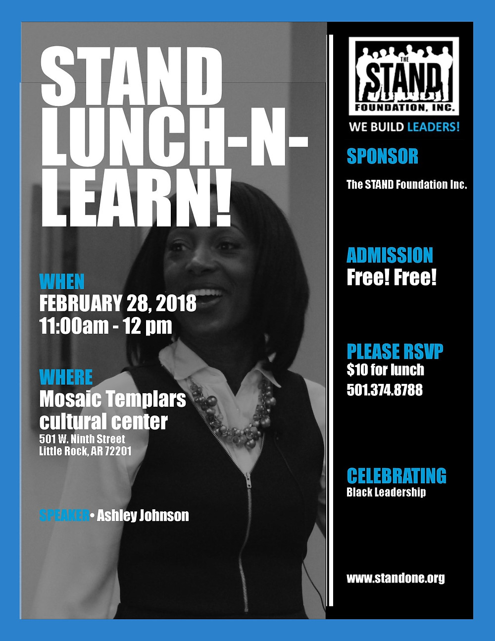 Don't Miss The STAND FOUNDATION LUNCH-N-LEARN