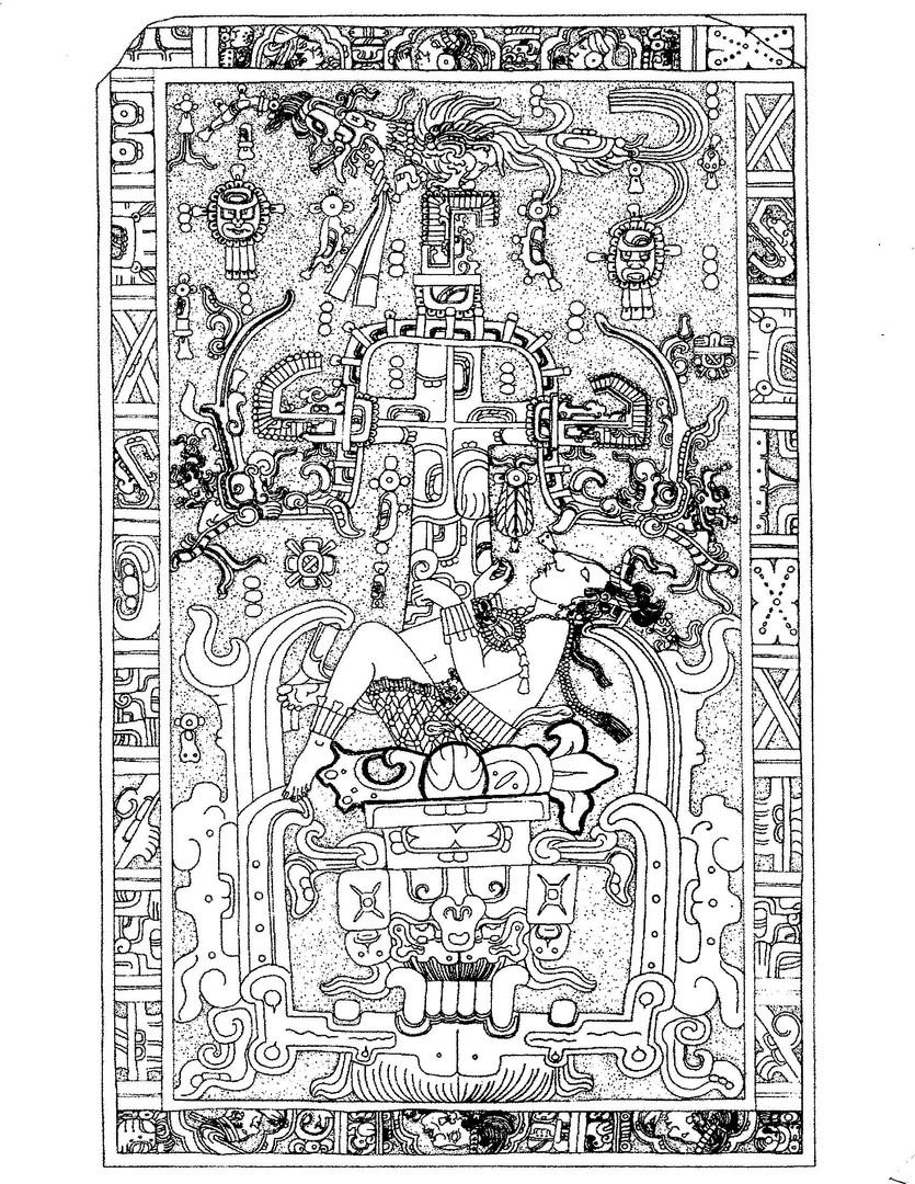 Lapida del Sacrofago de Kinich Ahau Pakal