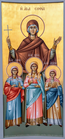 Saint Sophia and her three daughter Faith, Hope, and Love