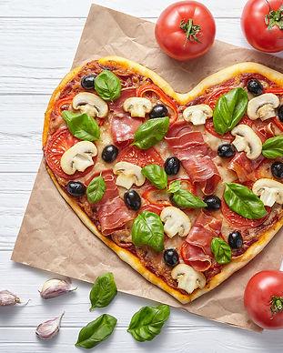 Pizza i hjerteform