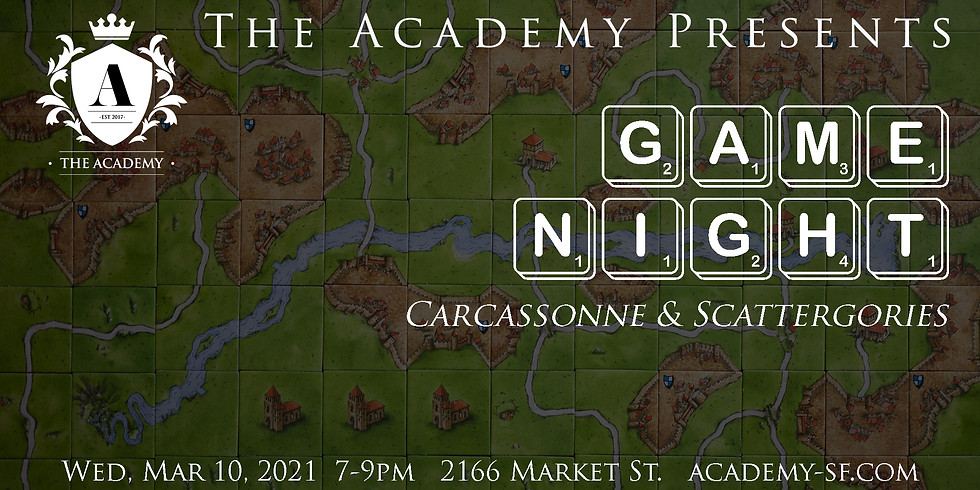 Game Night at The Academy: Carcassonne & Scattergories (1)