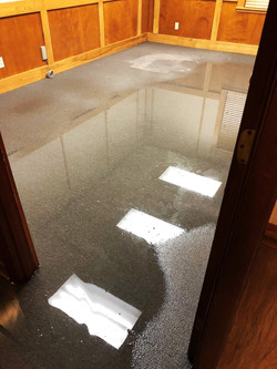 standing water damage