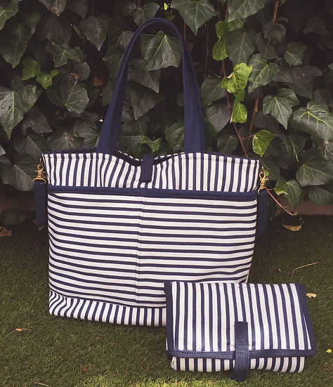 Striped Large Diaper Bag