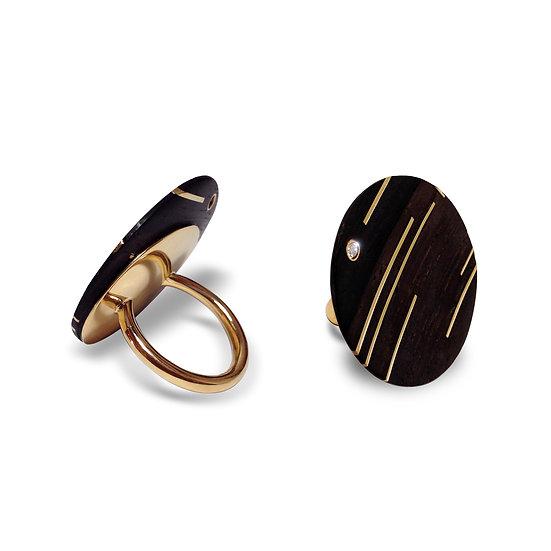 anel ouro madeira