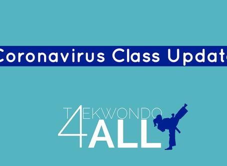 Coronavirus: Classes Update