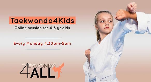 TaekwondoTuesdays_online Kids session_ev