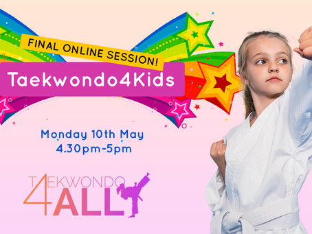 Well done to all our Taekwondo4Kids students!