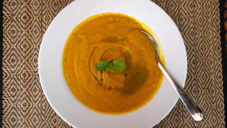 Roasted Pumpkin Carrot Soup
