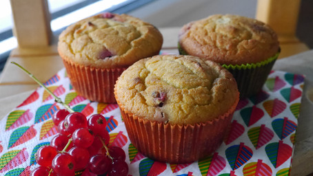 Red Currant Coconut Muffins
