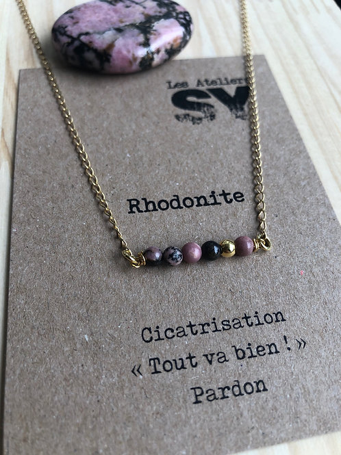 Tat'SY - Collier - Rhodonite