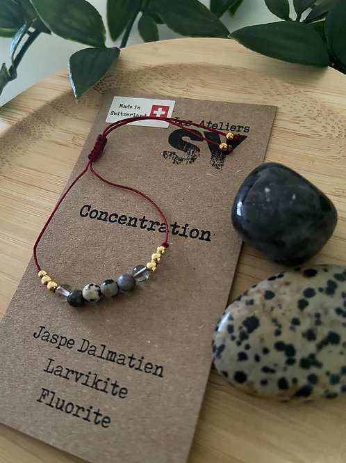 Well'SY - Concentration - Fil Bordeaux - Eléments dorés