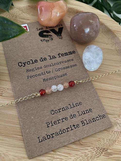 Cycle de la femme - Bracelet sur chaîne