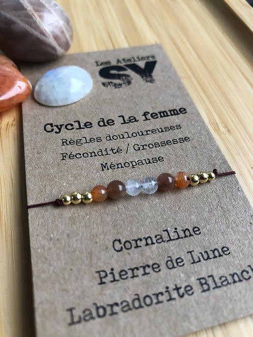 Cycle de la femme - Bracelet sur fil