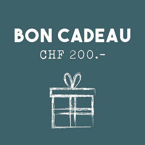 Bon cadeau - CHF 200.-