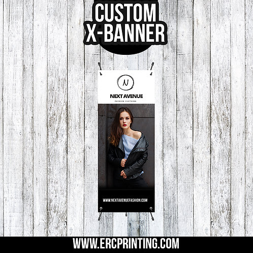 CUSTOM X-BANNER WITH STAND