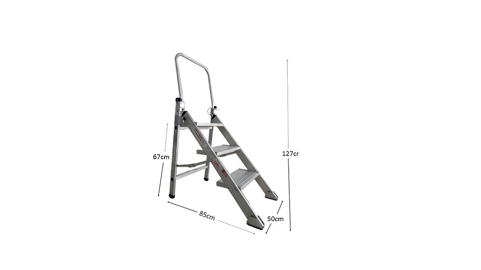 RHINO Heavy Duty Aluminium 3 step Stool
