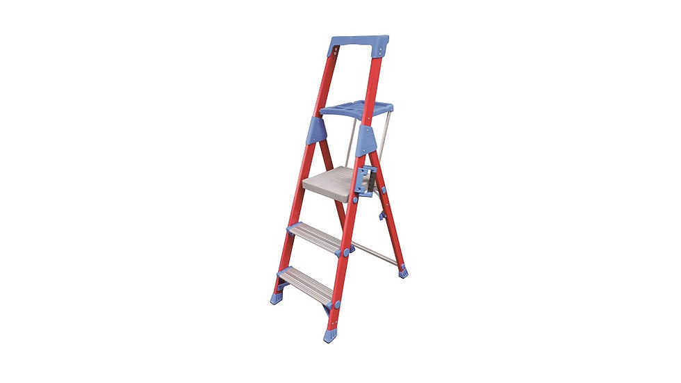 SPIDERLITE Fibreglass 3 - 7 Step Platform Ladders
