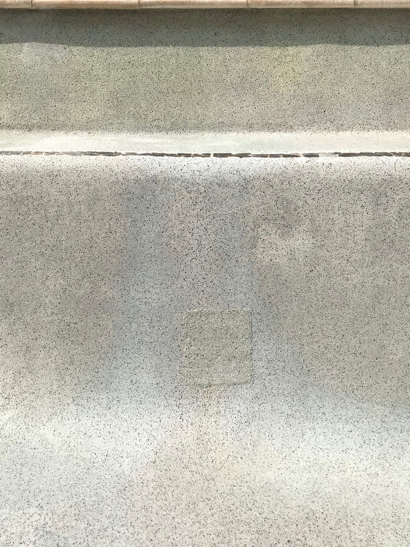 completed concrete pool repair