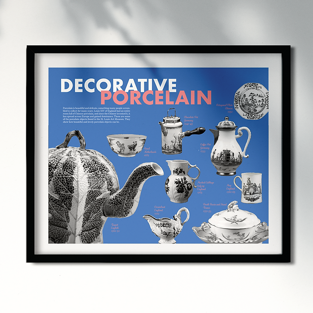 Decorative Porcelain Poster