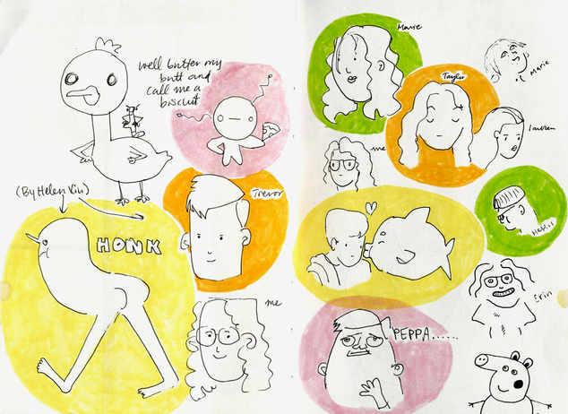 Most drawings by Helen Xiu